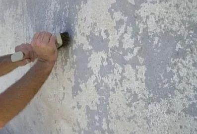 Фото — Очистка стены