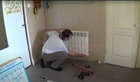 фото - монтаж радиаторов отопления