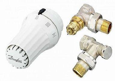 фото- сборная конструкция терморегулятора из термоголовки и клапана