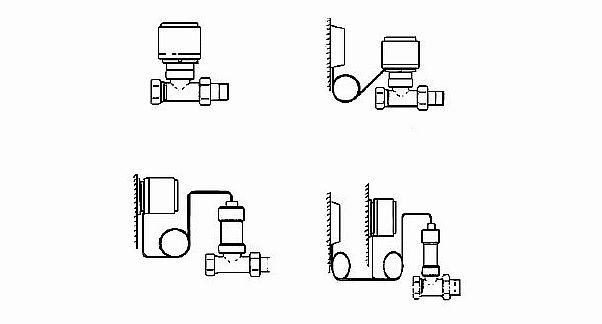 фото - Типы терморегуляторов в зависимости от положения регулятора и датчика