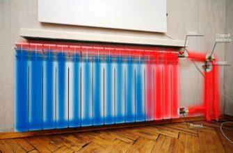Завоздушивание панельного прибора отопления (синий цвет)