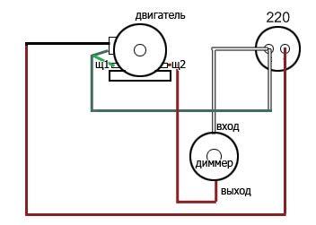 Фото - регулировка оборотов коллекторного двигателя
