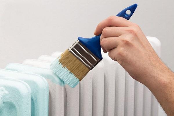 Фото - красим радиатор отопления